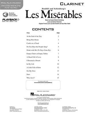 Alain Boublil: Les Miserables - Clarinet: Clarinet
