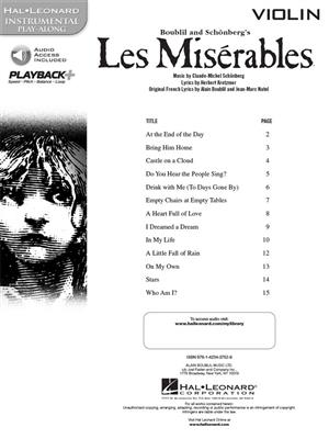 Alain Boublil: Les Miserables - Violin: Violin Solo