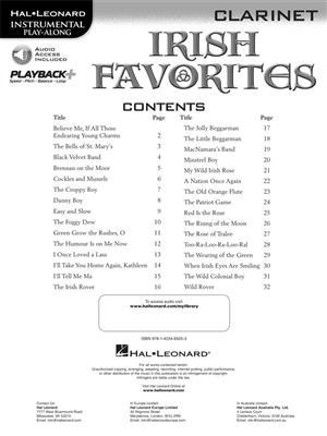 Irish Favorites - Clarinet: Clarinet
