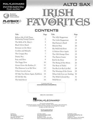 Irish Favorites - Alto Saxophone: Alto Saxophone