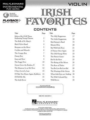 Irish Favorites - Violin: Violin Solo