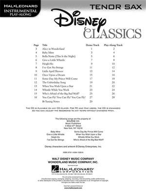 Disney Classics - Tenor Saxophone: Saxophone