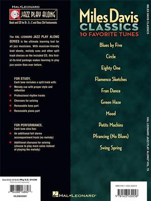 Miles Davis: Miles Davis Classics: C/ B-Flat/E-Flat and Bass Instruments