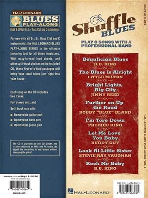 Shuffle Blues , Blues Play along vol. 4: Any Instrument