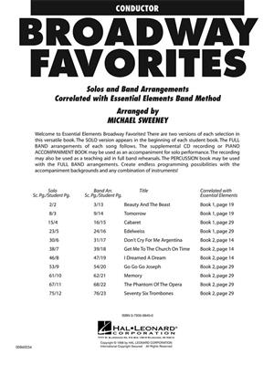 Michael Sweeney: Essential Elements Broadway Favorites (Conductor): Concert Band