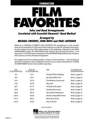 Essential Elements - Film Favorites (Conductor): Arr. (John Moss): Concert Band