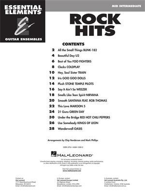Essential Elements Guitar Ens - Rock Hits: Guitar Ensemble