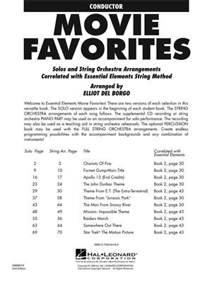 Essential Elements - Movie Favorites for Strings: Arr. (Elliot Del Borgo): Orchestra