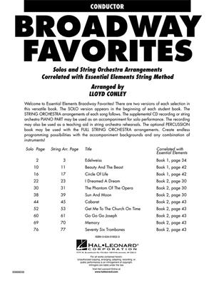 Essential Elements Broadway Favorites for Strings: Arr. (Lloyd Conley): String Ensemble