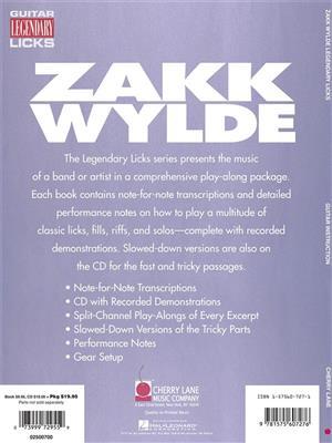 Zakk Wylde: Zakk Wylde - Legendary Licks: Guitar