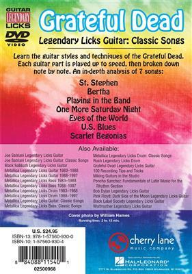 Grateful Dead: Grateful Dead Legendary Licks - Classic Songs: Guitar or Lute