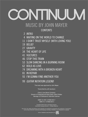 John Mayer: Continuum: Guitar or Lute
