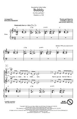 Colbie Caillat: Bubbly: Arr. (Roger Emerson): SSA