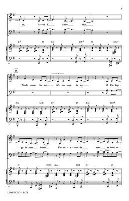 Sara Bareilles: Love Song: Arr. (Mark Brymer): SATB