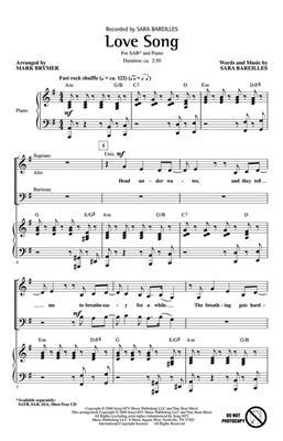 Sara Bareilles: Love Song: Mixed Choir