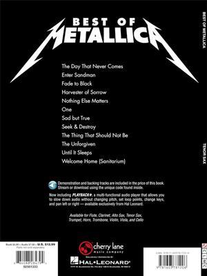 Metallica: Best of Metallica - Tenor Saxophone: Tenor Saxophone