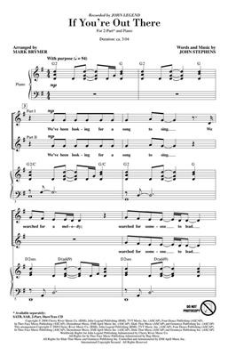 John Legend: If You're Out There: Arr. (Mark Brymer): 2-Part Choir