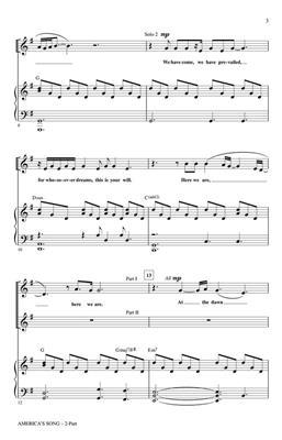 David Foster: America's Song: Arr. (Mac Huff): 2-Part Choir