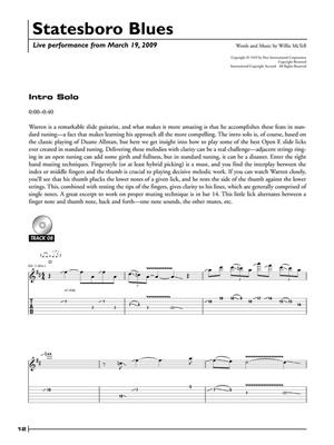 Warren Haynes: Warren Haynes Legendary Licks: Guitar TAB