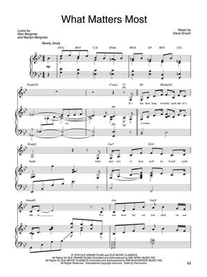 Alan Bergman: What Matters Most - Barbra Streisand: Piano, Vocal, Guitar