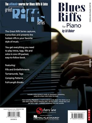 Ed Baker: Blues Riffs for Piano: Piano or Keyboard