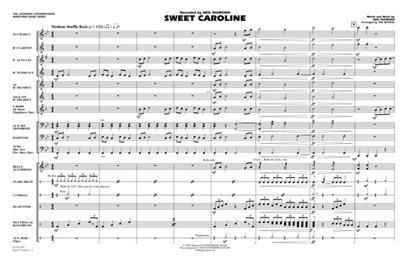 Neil Diamond: Sweet Caroline: Arr. (Tim Waters): Marching Band