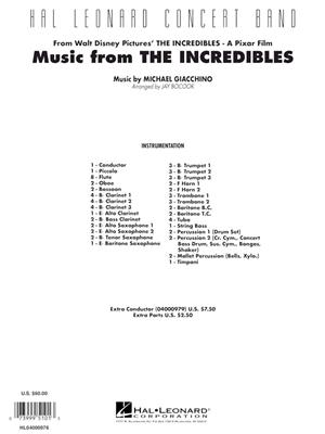 Michael Giacchino: Music from the Incredibles: Arr. (Jay Bocook): Concert Band