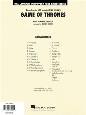 Ramin Djawadi: Game of Thrones: Concert Band (+European Parts)