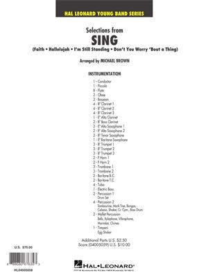 Michael Brown: Selections from SING: Concert Band (+European Parts)