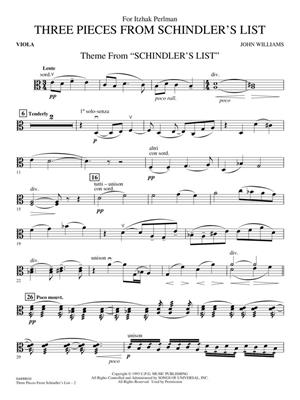 John Williams: Three Pieces from Schindler's List: Orchestra and Solo