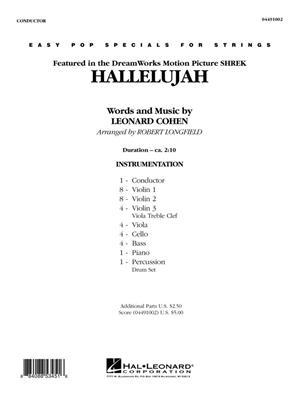 Leonard Cohen: Hallelujah: Arr. (Robert Longfield): String Orchestra