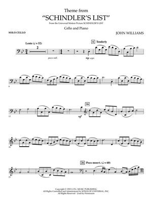 John Williams: Theme from Schindler's List: Cello and Accomp.