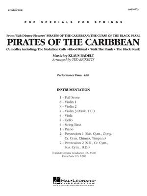Klaus Badelt: Pirates of the Caribbean (Pop Special String): Arr. (Ted Ricketts): String Ensemble
