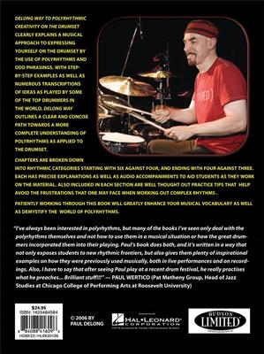 Delong Way To Polyrhythmic Creativity On Drums: Drums and Percussion