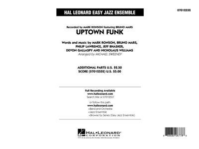 Bruno Mars: Uptown Funk: Arr. (Michael Sweeney): Jazz Ensemble