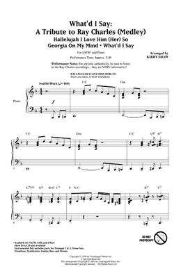 Ray Charles: What'd I Say - A Tribute to Ray Charles (SATB): Mixed Choir