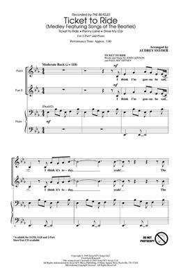 The Beatles: Ticket To Ride (Medley) - 2-Part: Mixed Choir