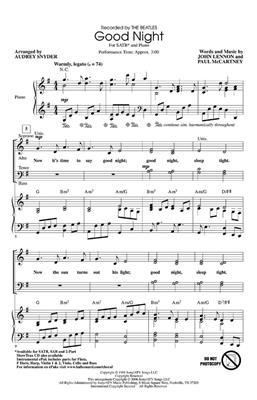 The Beatles: Good Night: Mixed Choir