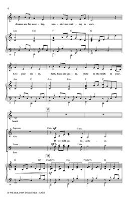 James Horner: If We Hold On Together: Arr. (Roger Emerson): SATB