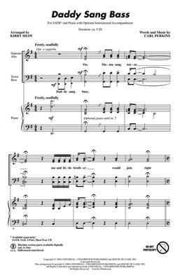 Carl Perkins: Daddy Sang Bass: Arr. (Kirby Shaw): Mixed Choir a Cappella