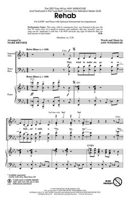 Amy Winehouse: Rehab: Arr. (Adam Anders): SATB