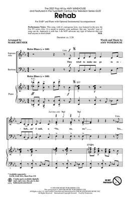 Amy Winehouse: Rehab: Mixed Choir