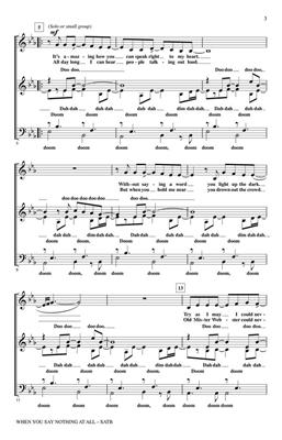Alison Krauss: When You Say Nothing at All: Arr. (Kirby Shaw): SATB