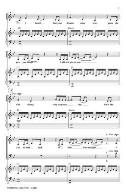 Adele: Someone Like You (Huff) - SATB: Mixed Choir