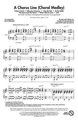 Edward Kleban: A Chorus Line: Mixed Choir