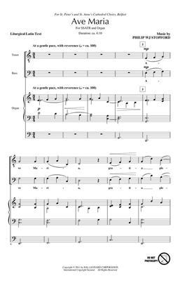 Philip W. J. Stopford: Ave Maria: Mixed Choir