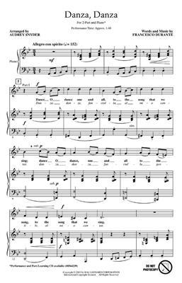 Francesco Durante: Danza, Danza: Mixed Choir