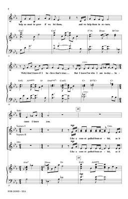 Stephen Schwartz: For Good (from Wicked): Women's Choir