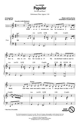 Stephen Schwartz: Popular (from Wicked): Women's Choir