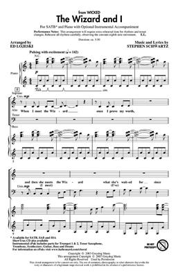 Stephen Schwartz: The Wizard And I (SATB): Mixed Choir